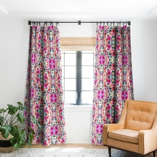 Marta Barragan Camarasa Abstract Geometrical Flowers Blackout Curtain Panel
