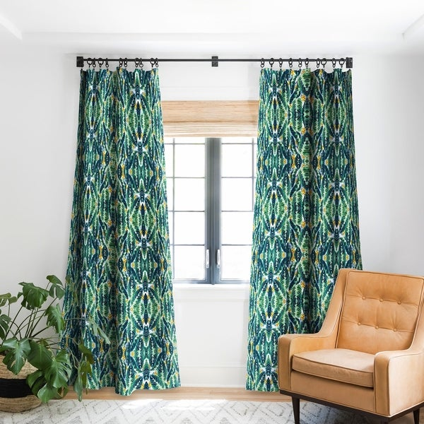 Marta Barragan Camarasa Tropical Leaf On Ornamental Pattern Blackout Curtain Panel (As Is Item). Opens flyout.