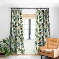 Marta Barragan Camarasa Painting Watercolor Leaves Blackout Curtain Panel