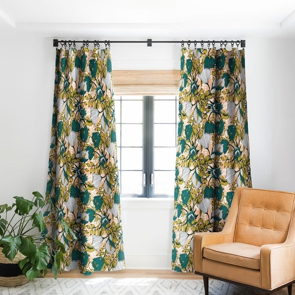 Marta Barragan Camarasa Tropical Autumnal Boom Blackout Curtain Panel by Deny Designs
