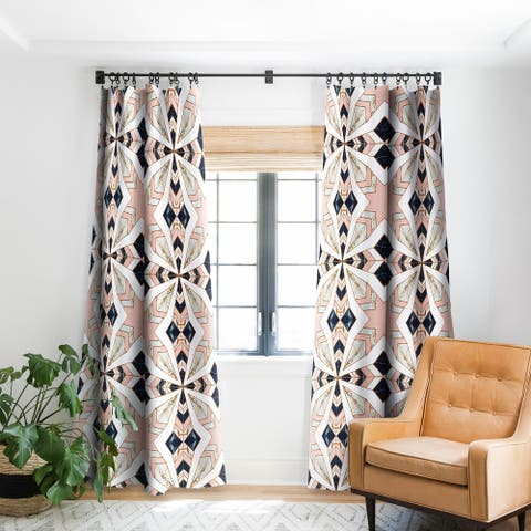 Marta Barragan Camarasa Mosaic Pattern Geometric Marbled 0I Blackout Curtain Panel