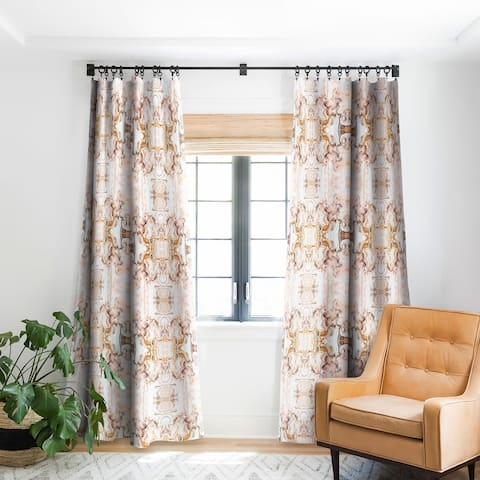 Marta Barragan Camarasa Abstract Pink Marble Mosaic Blackout Curtain Panel