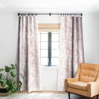 Little Arrow Design Co Watercolor Monstera In Dusty Pink Blackout Curtain Panel - 50 X 84