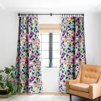 Marta Barragan Camarasa Pattern Blooms Along the Geometry Blackout Curtain Panel - 50 X 84
