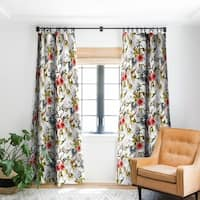 Marta Barragan Camarasa Boho Skulls Blooming In The Garden Blackout Curtain Panel - 50 X 84