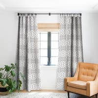Deny Designs Black Dot Holli Zollinger Blackout Single Curtain Panel - 50 X 84