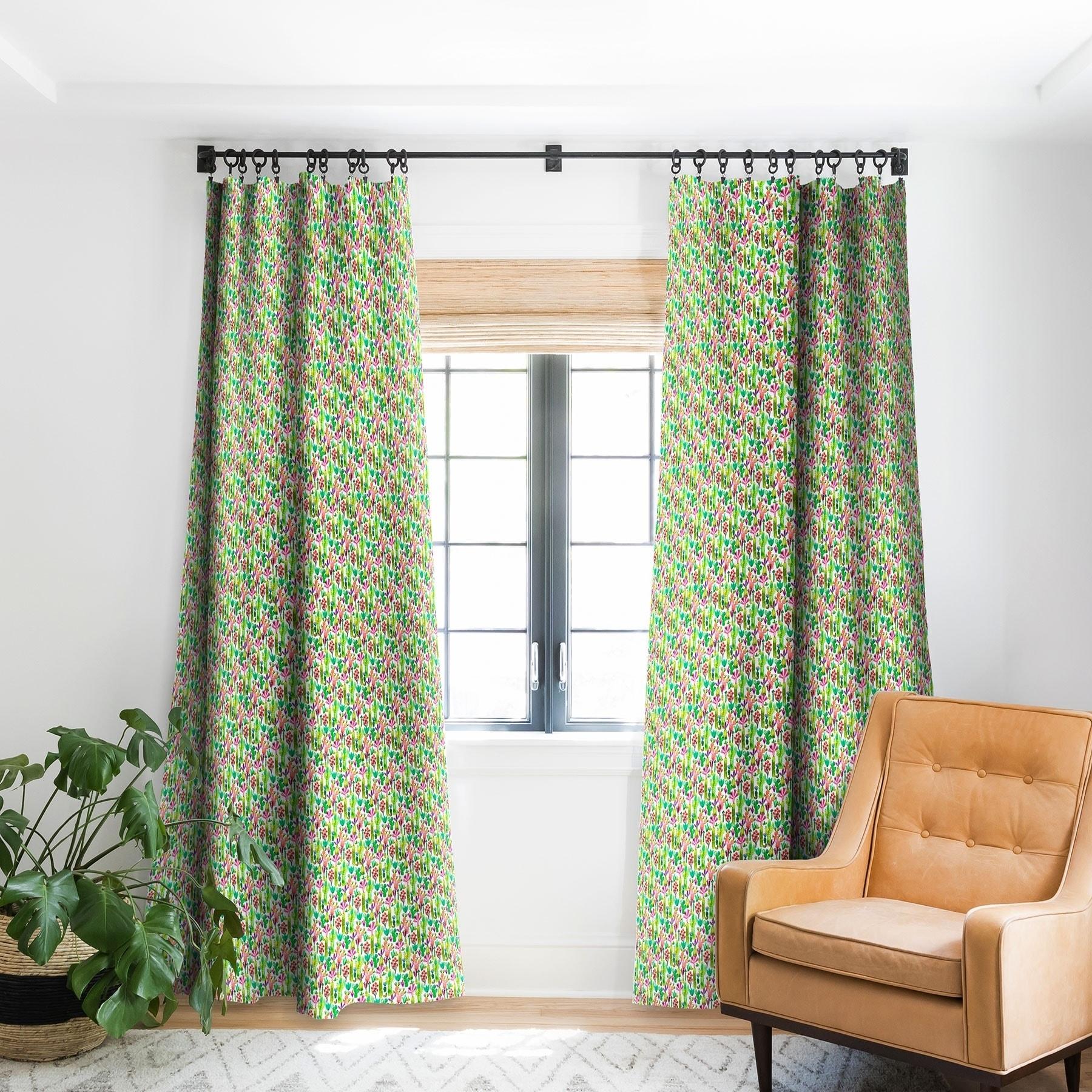 Ninola Design Cute And Green Cacti Garden Plants Blackout Curtain Panel On Sale Overstock 22046631