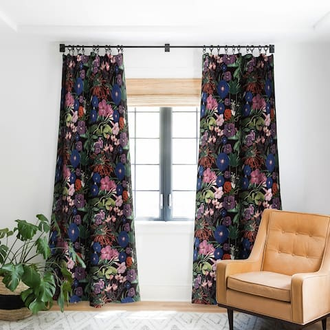 Deny Designs Floral Blackout Single Curtain Panel