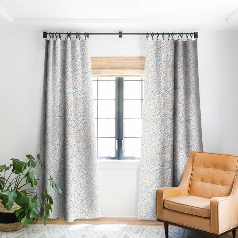 Ninola Design Multicolored Pastel Bubbles Dream Blackout Curtain Panel