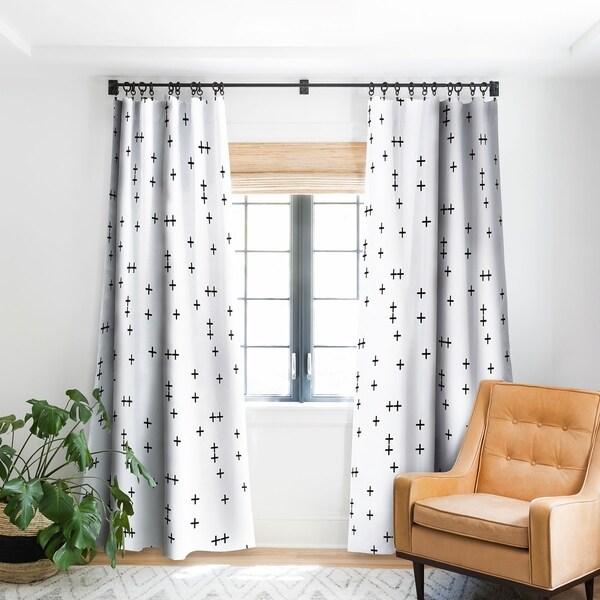 Shop Little Arrow Design Co Cross on White Blackout Curtain Panel
