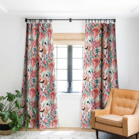 Marta Barragan Camarasa Tropical Paradise Pink Blackout Curtain Panel