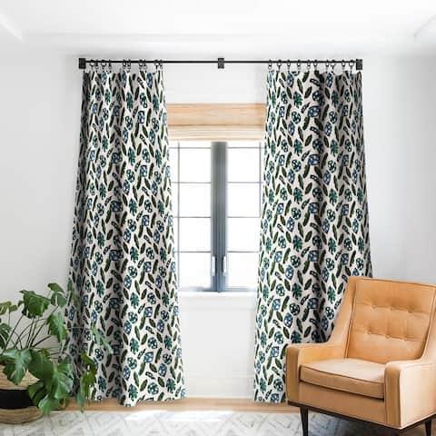 CayenaBlanca Minimal Jungle Blackout Curtain Panel