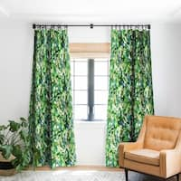 Schatzi Brown Vibe of the Jungle Green Blackout Curtain Panel - 50 X 84