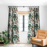 Marta Barragan Camarasa Tropical leaf Desert Blackout Curtain Panel