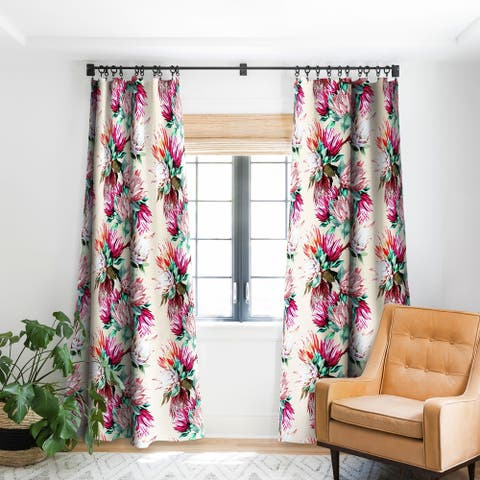 Marta Barragan Camarasa King Proteas Bloom 02 Blackout Curtain Panel