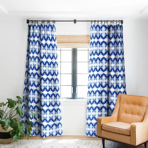 Schatzi Brown Blue Water Love Number 6 Blackout Curtain Panel