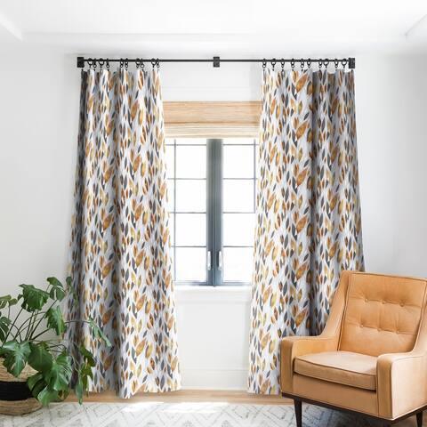 Elisabeth Fredriksson Falling Leaves Blackout Curtain Panel