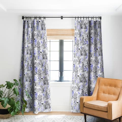 Marta Barragan Camarasa Toile de Jouy Between eras 02 Blackout Curtain Panel