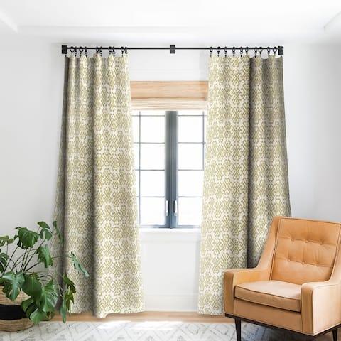 Schatzi Brown Justina Criss Cross Tan Blackout Curtain Panel