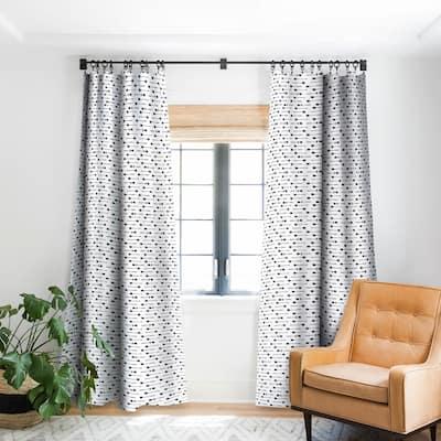 Emanuela Carratoni Vintage Boho Arrows Blackout Curtain Panel