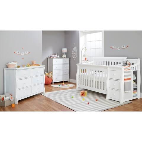 Sorelle Princeton Elite 4 in 1 Crib & Changer - White