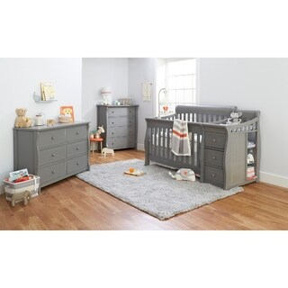 Sorelle Princeton Elite 4 in 1 Crib & Changer - Weathered Gray