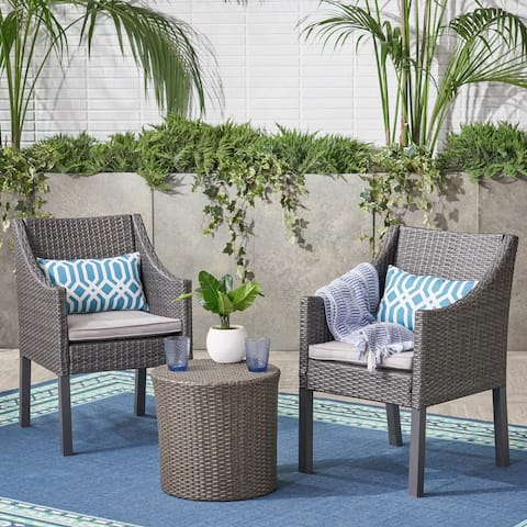 Edenborn Outdoor 3 Piece Chat Set by Christopher Knight Home