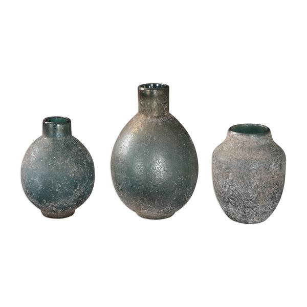 Uttermost Mercede Blue-green Vases (Set of 3)