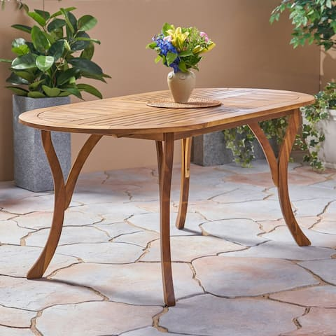 "Hermosa Outdoor 70"" Acacia Dining Table by Christopher Knight Home"