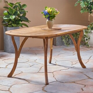 """Hermosa Outdoor 70"""" Acacia Dining Table by Christopher Knight Home"""