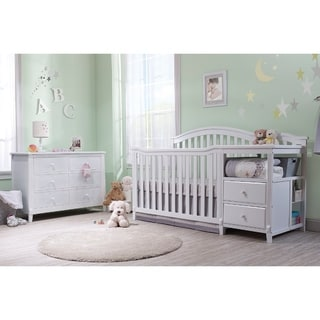 Sorelle Berkley 4 in 1 Crib & Changer - White