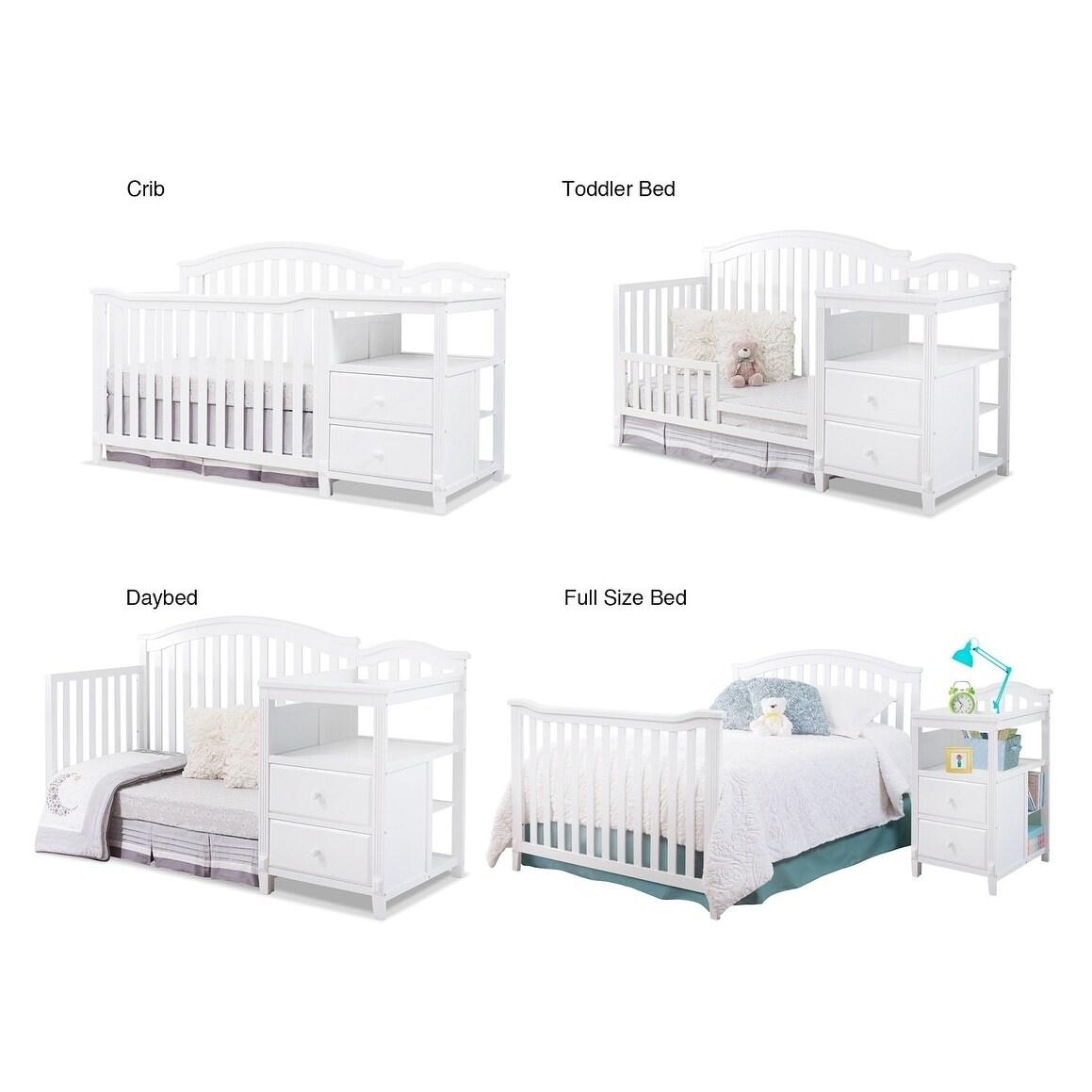 f8aca4a699c Shop Sorelle Berkley 4 in 1 Crib & Changer - White - Free Shipping Today -  Overstock - 22047070