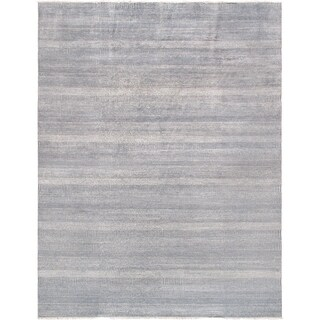 "Pasargad Hand-Knotted Transitiona Collection Bsilk&wool Area Rug- 9' 1"" X 11'11"""