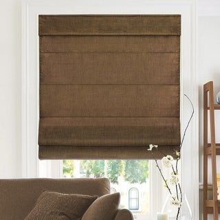 Chicology Belgian Chocolate Cordless Roman Shades