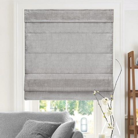 Chicology Belgian Denim Cordless Roman Shades