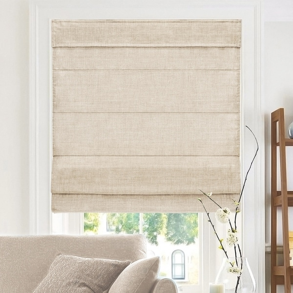 Chicology Belgian Flax Cordless Roman Shades (As Is Item). Opens flyout.
