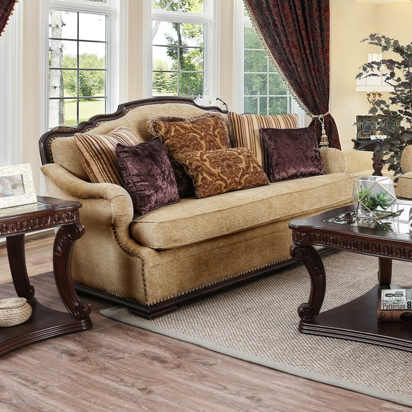 Shop Furniture Of America Jaye Traditional Wood Chenille