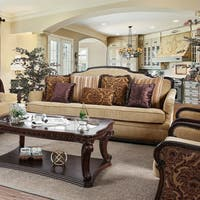 Furniture of America Jaye Traditional Wood Chenille Sofa