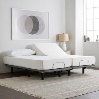 Select Luxury 10-inch Split King-size Gel Memory Foam Mattress and Adjustable Base Set