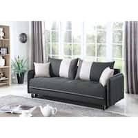 Casual Grey and White Sofa Bed