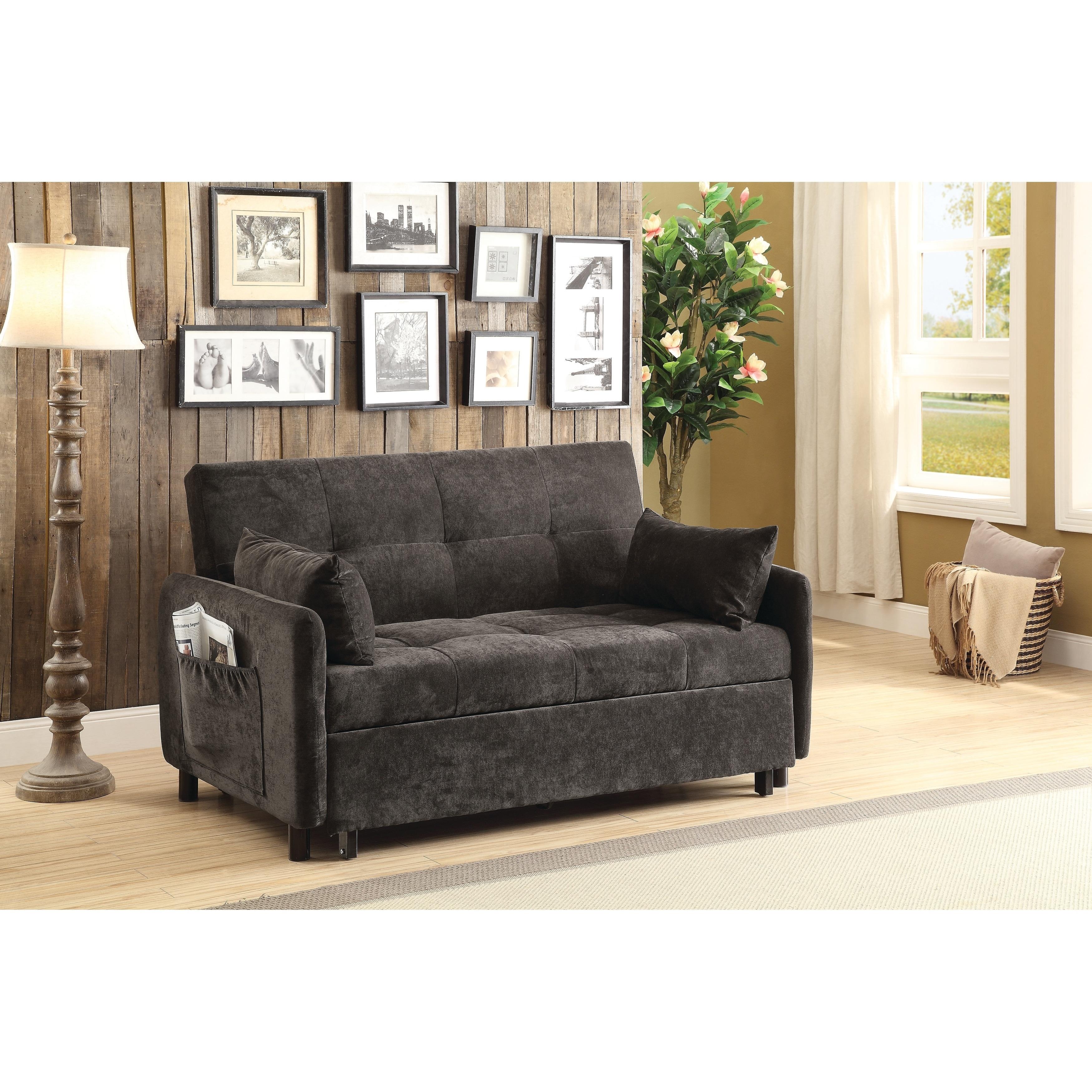 Transitional Dark Brown Sofa Bed - 60\
