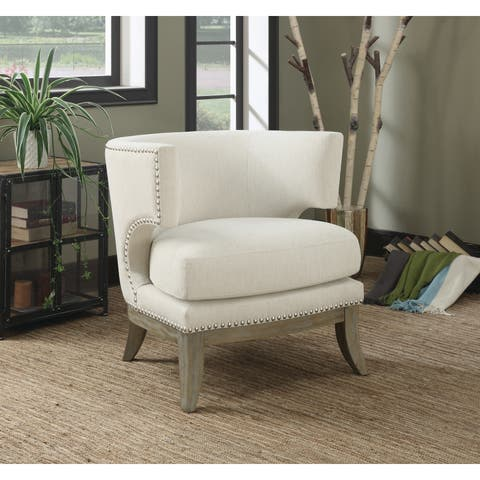 "Contemporary Wood Accent Chair - 29.25"" x 31.50"" x 31.50"""