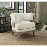 """Contemporary Wood Accent Chair - 29.25"""" x 31.50"""" x 31.50"""""""