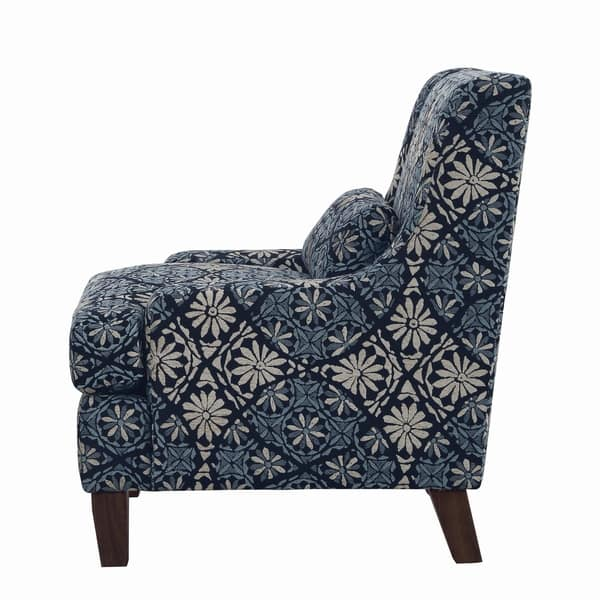 Strange Shop Coltrane Transitional Indigo Accent Chair 34 25 X Gmtry Best Dining Table And Chair Ideas Images Gmtryco