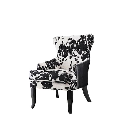 "Traditional Black and White Accent Chair - 25"" x 30.50"" x 35"""