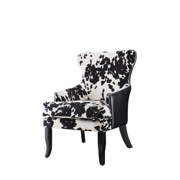 Shop Traditional Black and White Accent Chair - Free Shipping Today ...