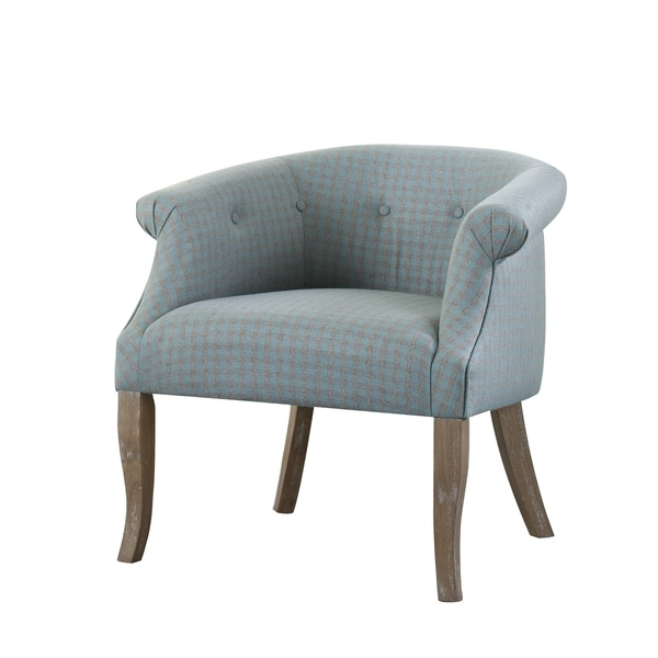 Shop Vintage Casual Light Blue And Grey Accent Chair