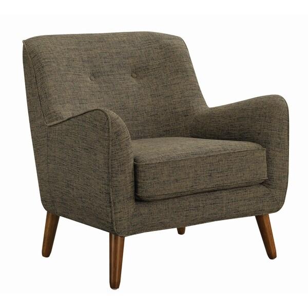 Mid Century Modern Grey Accent Chair