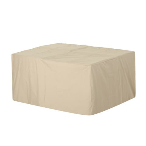 """Shield Outdoor 65"""" - 77"""" Square Waterproof Dining Set Cover by Christopher Knight Home"""