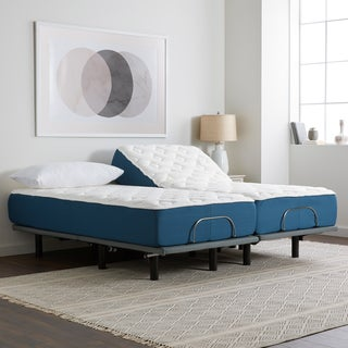 Select Luxury 12-inch Split King-size Quilted Gel Memory Foam Mattress and Adjustable Base Set